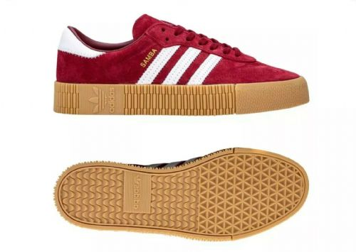 adidas Originals Women's Samba Rose Trainers Shoes Burgundy Red Retro Vintage
